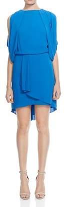 Halston Draped Cowl-Back Dress