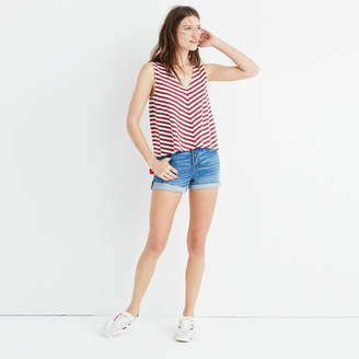 Chevron Stripe Swingy Tank Top $39.50 thestylecure.com