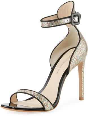 Sophia Webster Nicole Coarse Glitter Sandals