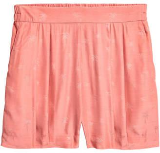 H&M Jacquard-weave Shorts - Orange