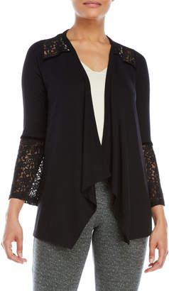 August Silk Lace Bell Sleeve Open Cardigan