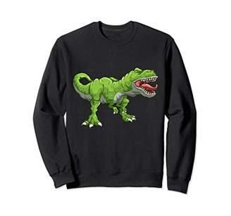 Green T Rex Tyrannosaurus Rex T-Rex Dinosaurs Dino Kids Boy Sweatshirt