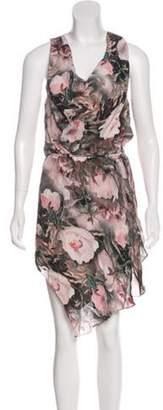 Haute Hippie Floral Print Dress Mauve Floral Print Dress