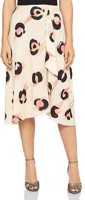 Reiss Marson Printed Chiffon Skirt