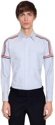 Thom Browne Elastic Stripes Cotton Oxford Shirt