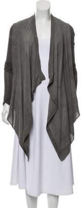 Helmut Lang Asymmetrical Long-Sleeve Cardigan