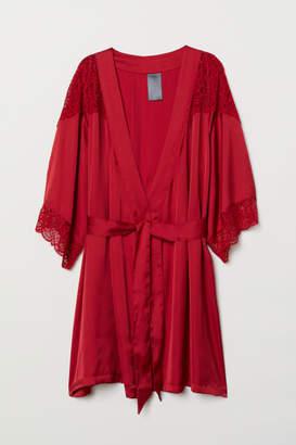 H&M Satin Kimono - Red