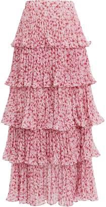 Amur Paisley Tiered Maxi Skirt