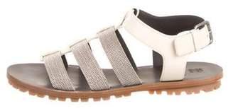 Brunello Cucinelli Monili Leather Flats