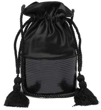 Hunting Season Lola Satin And Lizard Skin Shoulder Bag - Womens - Black