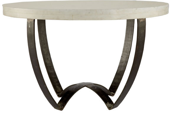 Sleek Marble-Top Coffee Table