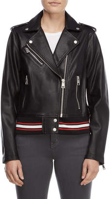 Levi's Black Faux Leather Moto Jacket
