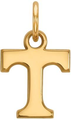 Logoart LogoArt Tennessee Volunteers Sterling Silver 14K Gold Plated XS Pendant