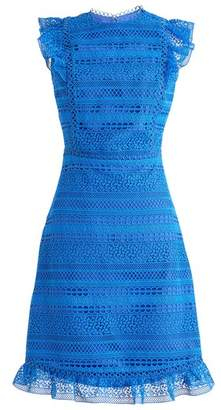 J.Crew J. CREW Cap Sleeve Ruffle Lace Dress