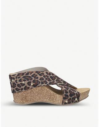 Selfridges Carvela Comfort Sooty woven wedge sandals