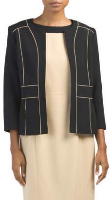 Framed Stretch Crepe Jacket