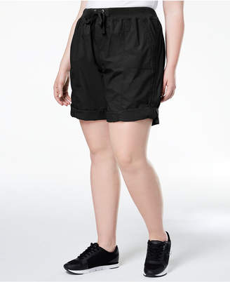 Calvin Klein Plus Size Ribbed-Waistband Convertible Shorts