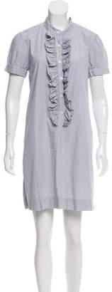 Nili Lotan Striped Mini Shirtdress