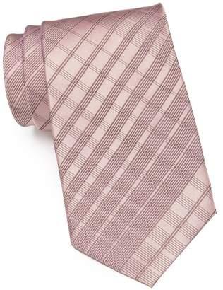 Calvin Klein Degrade Plaid Silk Tie