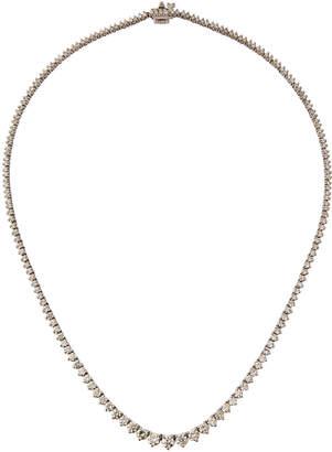 Diana M. Jewels 14k White Gold Diamond Tennis Necklace, 6.5tcw