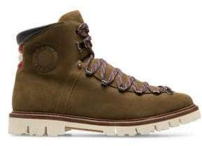Bally Men's Chack Suede Hiking Boots - Caki - Size 8.5