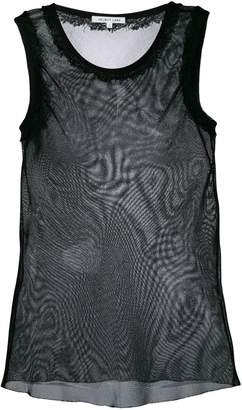 Helmut Lang sheer meeting shell top