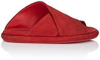 Marsèll Women's Crisscross-Strap Suede Slide Sandals