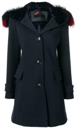 Rrd fur trim hooded coat