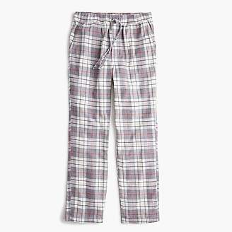 J.Crew Flannel pajama pant in gray plaid