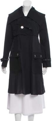 Opening Ceremony Sheer-Accented Trench Coat w/ Tags