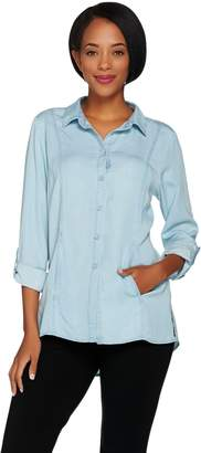 Kelly By Clinton Kelly Kelly by Clinton Kelly Denim Shirt with Roll Tab Sleeves