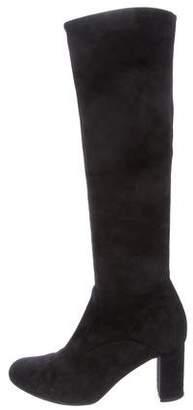 Valentino Suede Round-Toe Boots