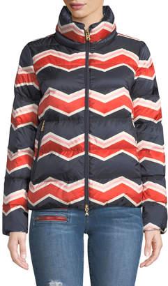 Bogner Ivy Chevron-Print Puffer Coat
