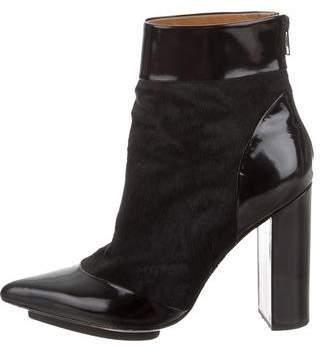 3.1 Phillip Lim Ponyhair Cap-Toe Ankle Boots