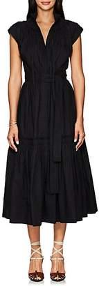 Proenza Schouler Women's Cotton Poplin Peasant Dress - Black
