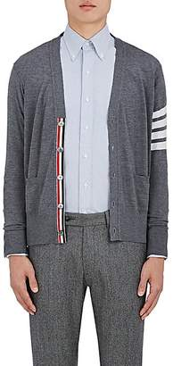 Thom Browne Men's Block-Striped Wool Cardigan - Gray