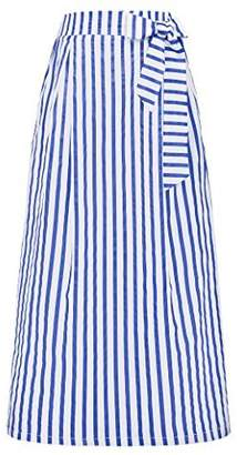 GRACE KARIN Women's Autumn Cool Lightweight Maxi Long Skirt Size M
