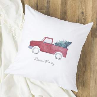 Cathy's Concepts Cathys Concepts Personalized Christmas Tree Truck Throw Pillow Cathys Concepts