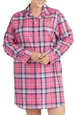 Lauren Ralph Lauren Plus Printed Logo Sleepshirt