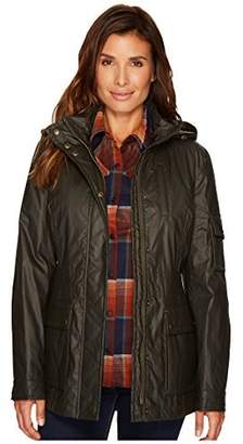 Pendleton Women's Waxed Cotton Hooded Zip Front Jacket