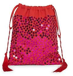 ATTICO Women's Hand-Embroidered Sequined Pouch