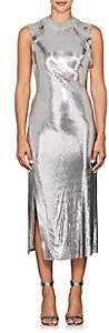 Paco Rabanne Women's Metal-Mesh & Lamé Midi-Dress - Silver