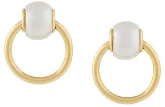 DSQUARED2 pearl hoop earrings