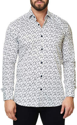 Maceoo Shaped-Fit Luxor Funky Gun Sport Shirt