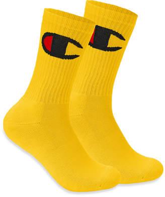 Champion Men's Big-Logo Crew Socks