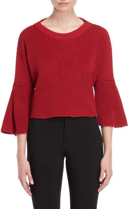 Roberto Collina Cropped Bell Sleeve Sweater