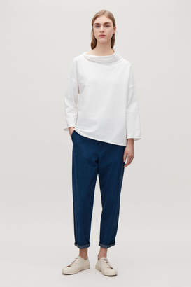 Cos SWEATSHIRT WITH SLOUCHY NECK
