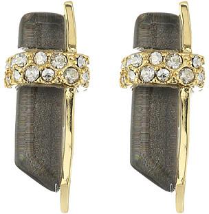 Alexis BittarAlexis Bittar Crystal Encrusted Minimalist Post Earrings