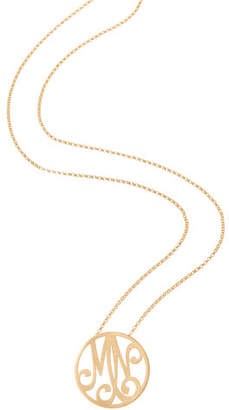 K Kane Small 2-Initial Monogram Necklace, Yellow Gold, 18""