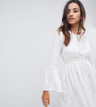 boohoo Lace Insert Smock Dress